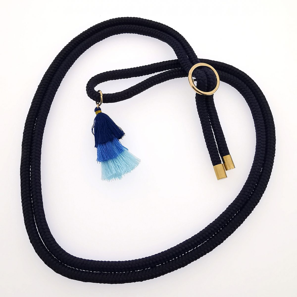 Keeweestyle Handykette Switch Wechselband Navy Gold1
