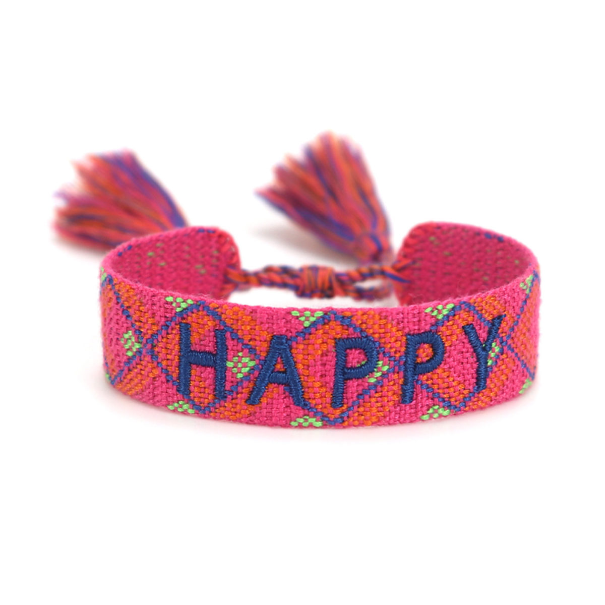 KeeweeStyle Schmuck Armband Boho Cotton Happy Spicy Red