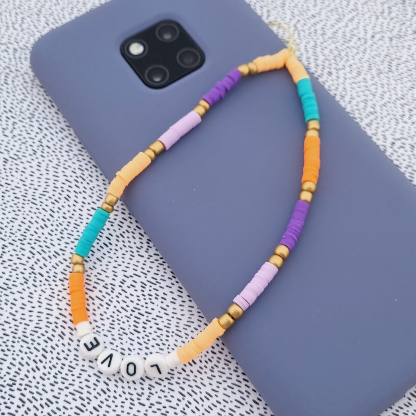 KeeweeStyle Phone Charm Lilac Peach Melody
